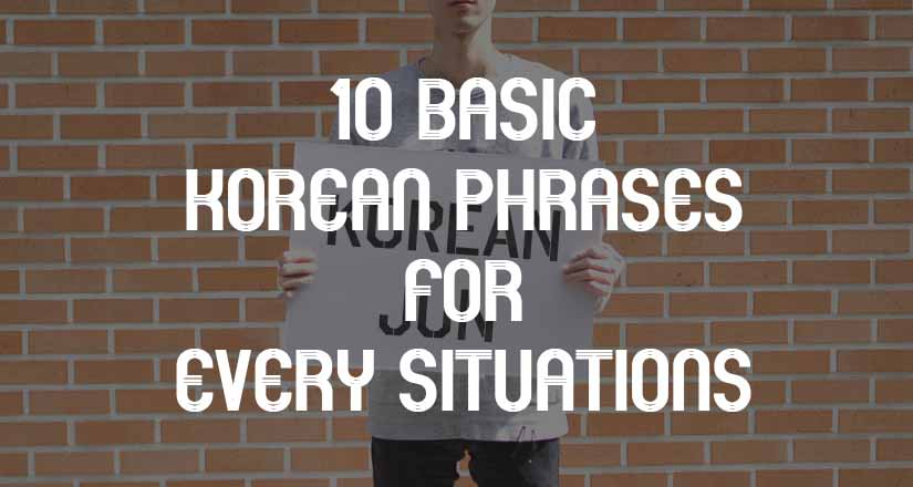 10 Useful Basic Korean Phrases 1