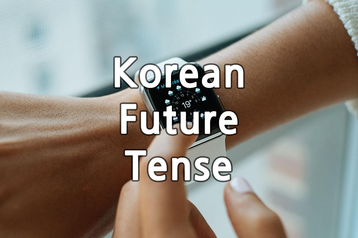 Korean Future Tense img