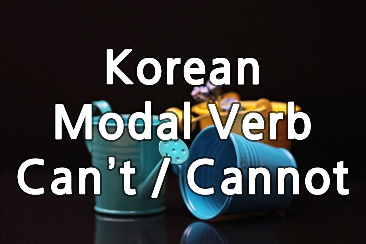 Korean Modal Verb Can't img