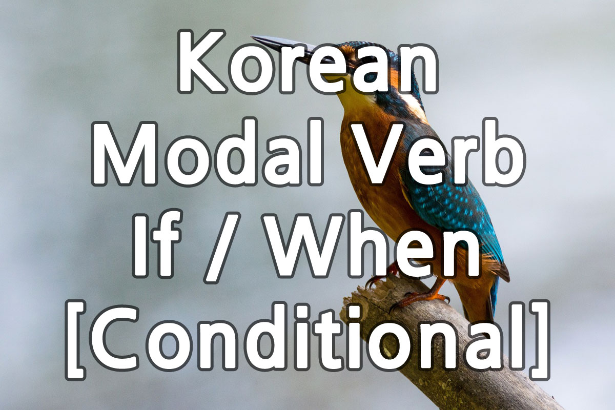 Korean Modal Verb If When [Conditional] img
