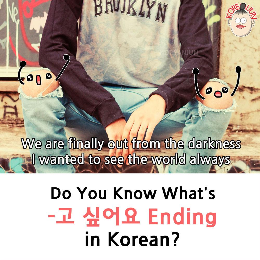 -고 싶다 in Korean 1