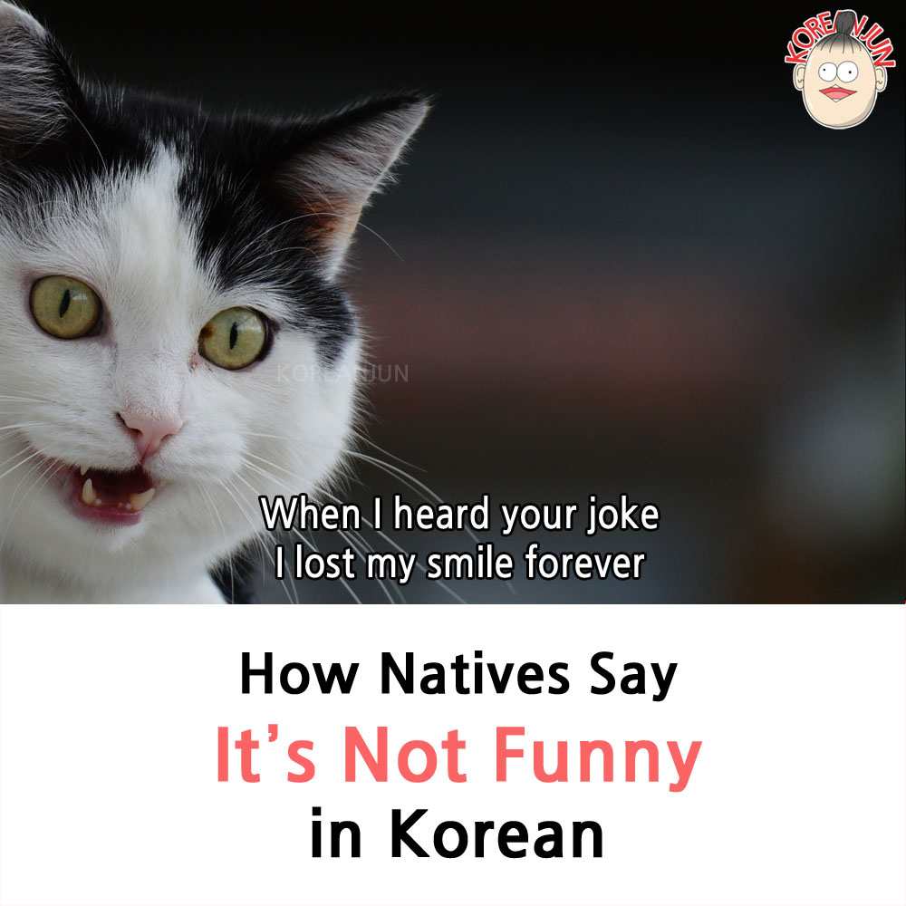 It's Not Funny in Korean 1