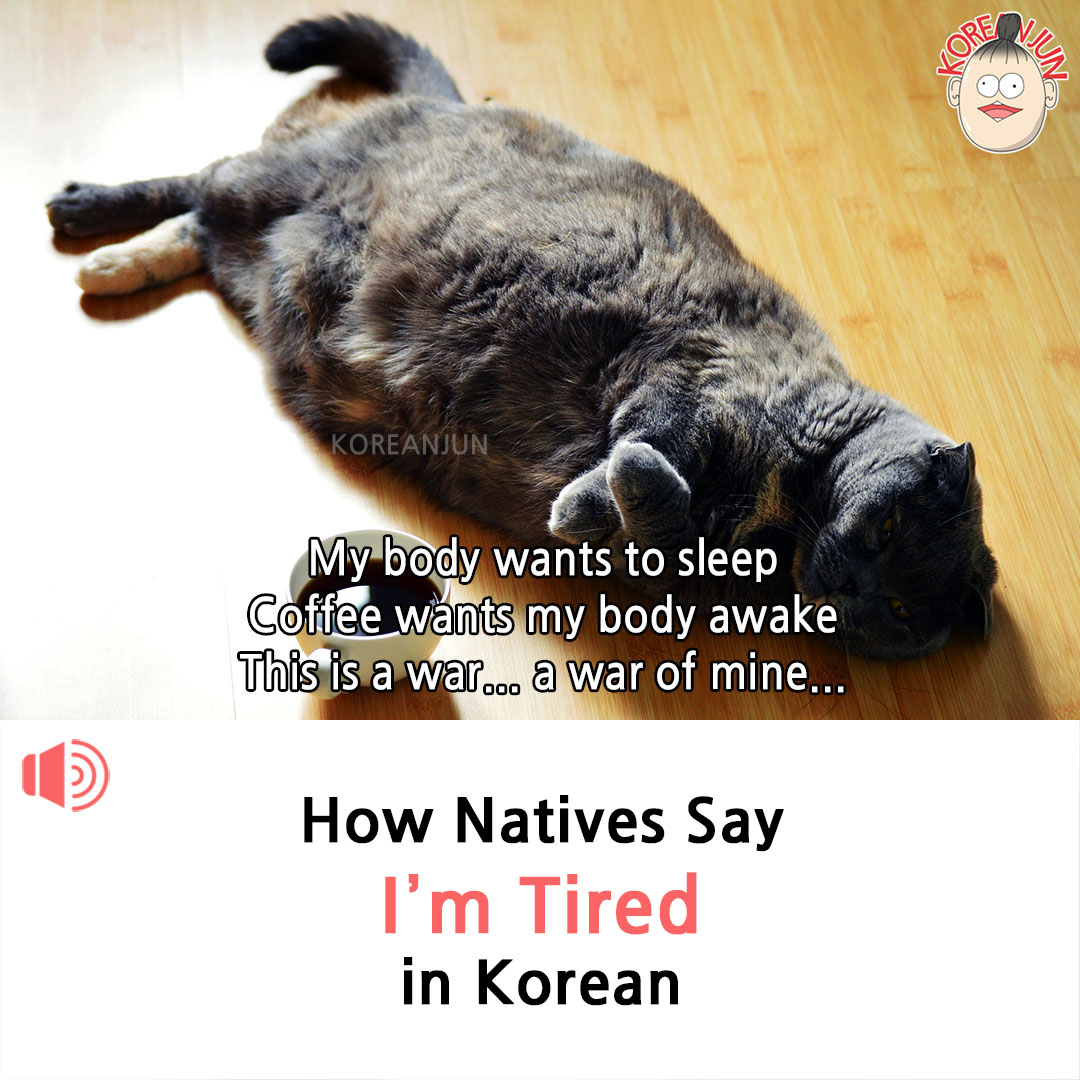 I'm Tired in Korean 1